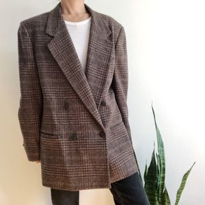 Fall 90s vintage double-breasted jacket